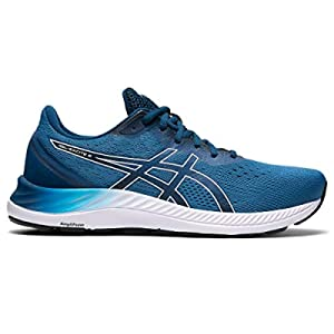 ASICS Men's Gel-Excite 8 Running Shoes, 10.5, Reborn Blue/White