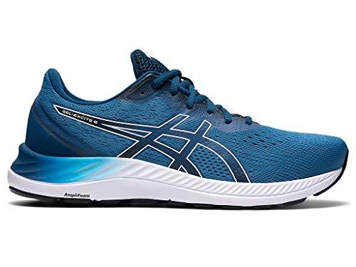ASICS Men's Gel-Excite 8 Running Shoes, 9.5, Reborn Blue/White