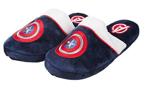 TruffleShuffle Marine Marvel Comics Captain America Slip On Hausschuhe