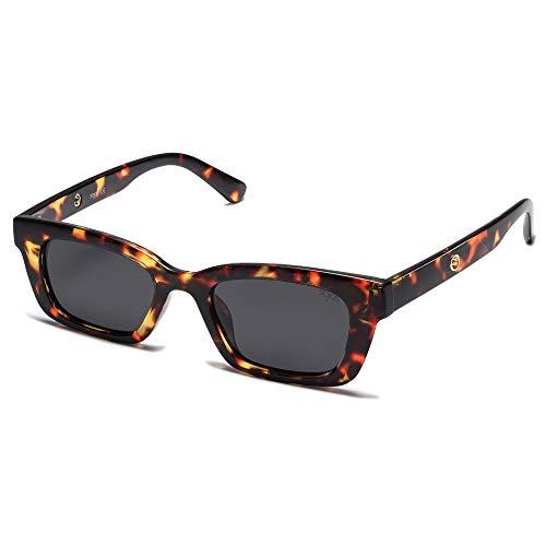 SOJOS Occhiali da Sole Quadrati Polarizzati per Uomo e Donna SJ2134 con Demi Telaio/Grigio Lente