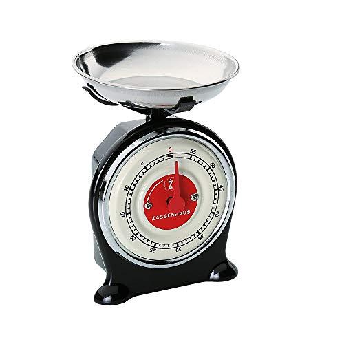 Zassenhaus Scale Minuteur de Cuisine Noir Taille Unique