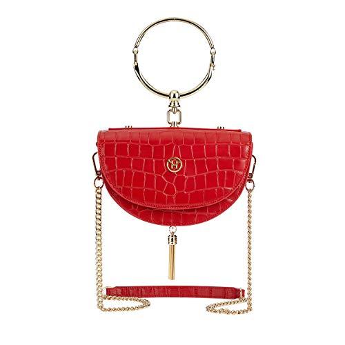 VICTORIA HYDE dames schoudertas handtassen schoudertassen echt leder groen beige rood Half Moon Shape