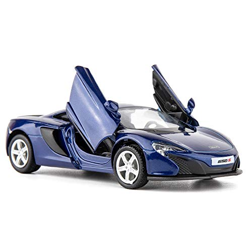 TGRCM-CZ 1/36 Scale McLaren 650S Casting Car Model, Zinc Alloy Toy Car for Kids, Pull Back Vehicles Toy Car for Toddlers Kids Boys Girls Gift (Blue)