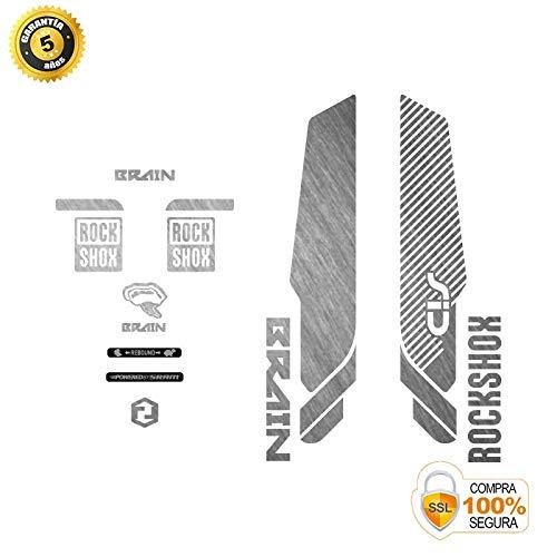 Stickers fourche pour vélo modèle fourche Rock Shox SID Brain prédécoupé argent 29