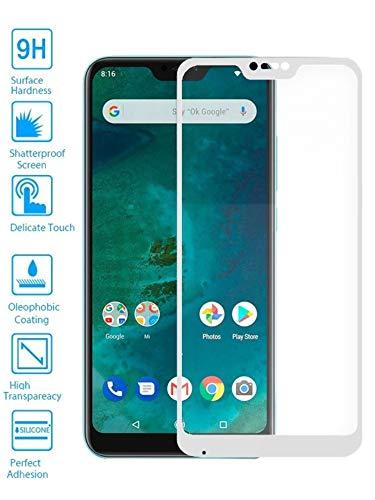 Todotumovil Protector de Pantalla Xiaomi Mi A2 Lite Blanco Completo 3D Cristal...