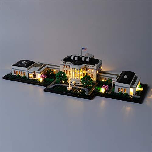 Kit De Luces Led Para Architecture La Casa Blanca, Compatible Con El Modelo De Bloques De ConstruccióN De Juguetes Lego 21054 (No Incluido El Modelo)