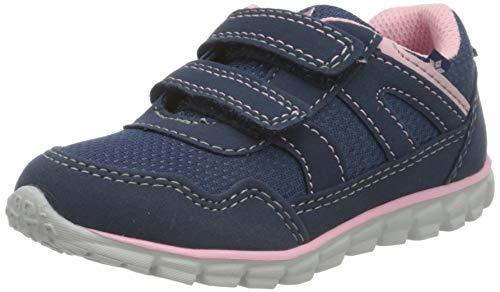 Lico Marisol V, Sneakers Basses bébé Fille, Bleu (Marine/Rosa Marine/Rosa), 22 EU