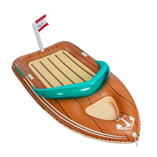 JOYIN Giant Inflatable Boat Pool Float with Reinforced Cooler, Summer Pool Party Lounge Raft...