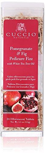 Cuccio Pomegranate and Fig Pedicure Fizz Tablets, 24 Count
