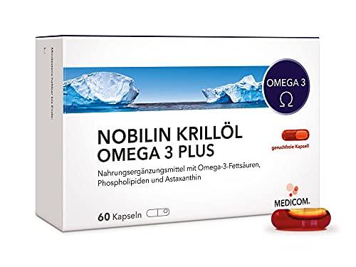 MEDICOM KRILLÖL - 100{9904521759214f342cb7c2f08bd35a536ed1821ad2c8eb480541d0c50944e495} natürlich - 60 Kapseln - 1.000 mg pro Tagesdosis (2 Kapseln) – reich an Omega-3-Fettsäuren DHA + EPA - liefert zudem Astaxanthin + Phospholipide – MSC-zertifizierter Wildfang