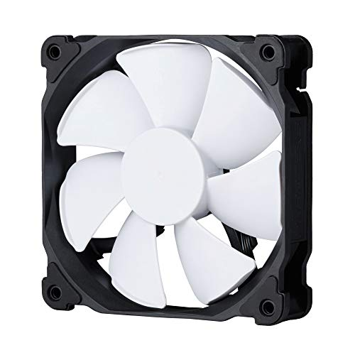 Phanteks PH-F120MP Ventilador PWM de alta presión estática de 120 mm, 2200 rpm, color negro y blanco
