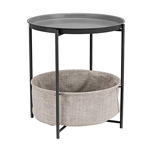 AmazonBasics Store Round Storage End Table