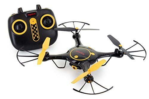 Tenergy Syma X5UW, WiFi FPV Drone with Camera 720P HD, RC Drone 360° Roll, Headless Mode, Auto Hovering, APP/Remote Control Drone Come with 2 Batteries (Exclusive Black Yellow Color)
