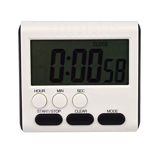 Jinghengrong Tiempo Digital magnética Gran Pantalla LCD Digital Temporizador de Cocina Conde de Alarma para Arriba y Abajo de Reloj de 24 Horas