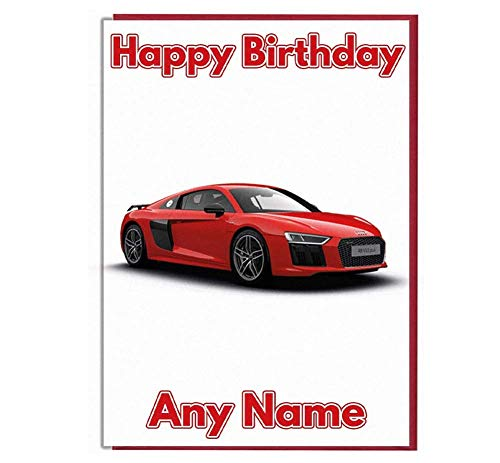 Geburtstagskarte, Motiv: Sportwagen, personalisierbar mit Name und Alter [Service evtl. nicht in Deutschland verfügbar]