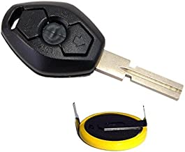 HQRP Key-Fob and Battery for BMW X3 E83 2004 2005 2006 2007 2008 2009 Remote Shell Case Cover Smart Key Keyless FOB + Coaster
