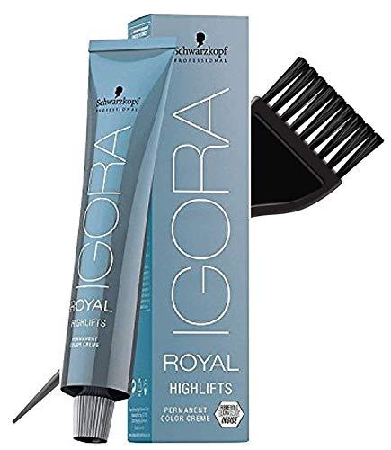 Schwarzkopf Igora Royal Highlifts permanent Couleur des cheveux Crème (avec Sleek Tint Applicateur Brosse) Crème Couleur de cheveux (Ultra Blond Beige