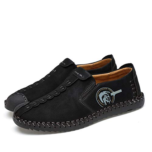 The small cat Summer Men Shoes Casual Italian Slip on Mens Loafers Moccasins,Black,9.5