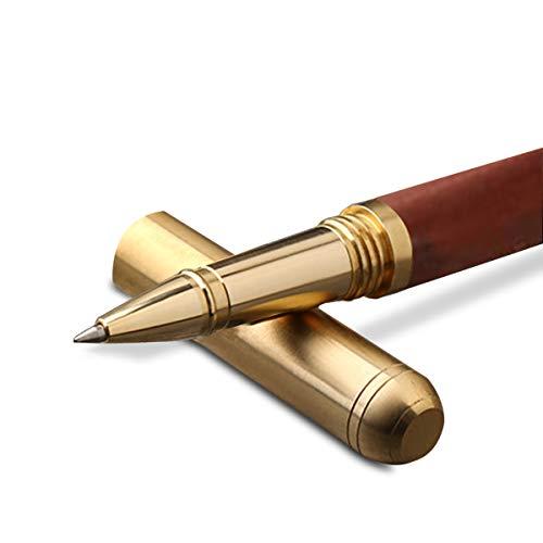 MARSACE Vintage Bolígrafo de Madera Bolígrafo de Firma Hecho a Mano Escritura Fluida Regalo para Hombres Mujeres Maestro Alumno Escritor Sándalo Rojo B