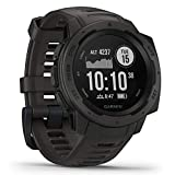 Garmin Instinct, Rugged Outdoor Watch with GPS, Features Glonass and Galileo, Heart Rate Monitoring and 3-Axis Compass, Graphite, 1.27' (010-02064-00)