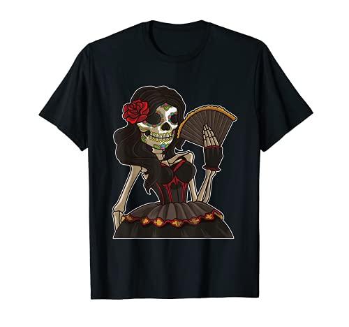 La Calavera Catrina Santa Muerte Camiseta