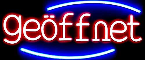 XXL LED Reklame Werbung Leuchtwerbung Leuchtreklame Display Schild Geöffnet 70cm