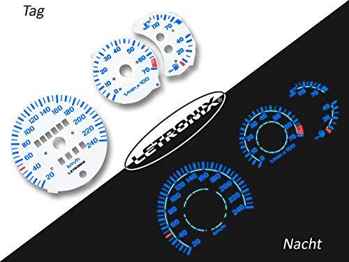 LETRONIX Plasma Tacho Tachoscheiben für Auto Polo 3 86c G40 20-240Km/h 7000U/Min