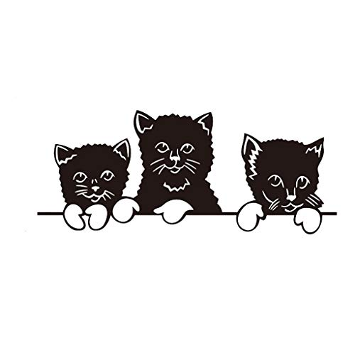3D Wall Decal Decal Decal Detachable Cat Theme Family Room Window Wall Wall Mural Decorative Wall Decal Decal