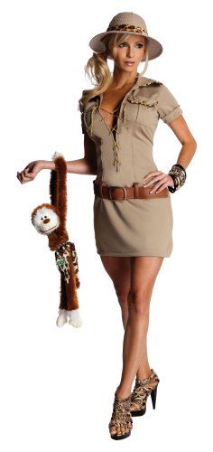 Secret Wishes Womens Tarzan Hunter Jane Costume, Khaki, Small