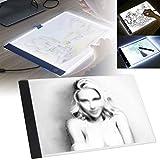 PanDaDa Tablette Lumineuse A4 pour Diamond Painting avec Luminosité Réglable Précise LED Pad Ultre-Mince avec Cable USB Planche À Dessin pour La Peinture Au Diamant, Dessin, Esquisse, Animation