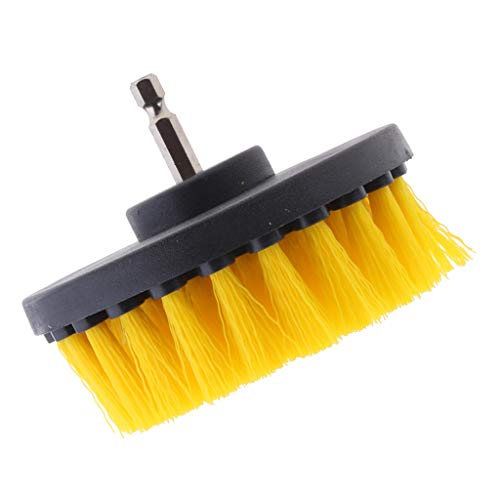 Review Of 1PC Tile Grout Cleaning Drill Brush Scrub Brush Drill Attachment Drillbrush - Yellow Mediu...