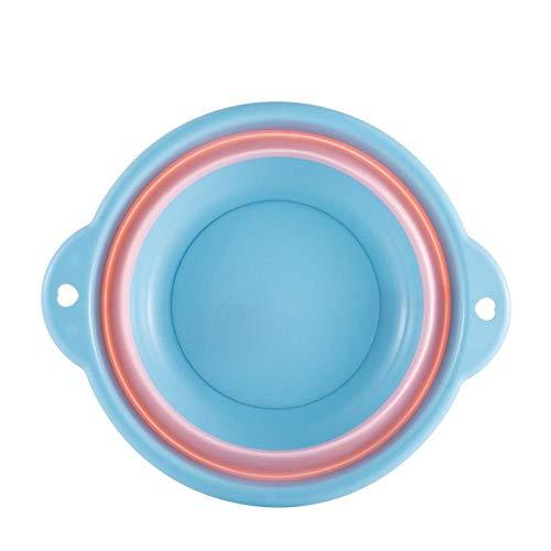 Lavabo pliant portable, bassin en plastique suspendu, bain de pieds pliable-Bleu moyen 32 * 12 * 19,5 cm