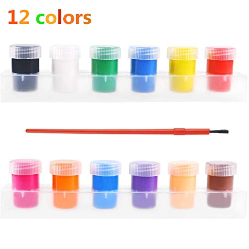 HYR88 (12 Farben) Aquarelle Lebendige Farben Waschbar, Farben Waschbar Pigment Set, Handbemalte Lebendige Farben Für Kleinkinder Kinder Anfänger Schulmaterial