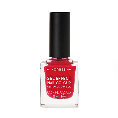 Korres Gel Effect Sweet Almond Nagellack, 19 watermelon,1er Pack (1 x 11 ml)