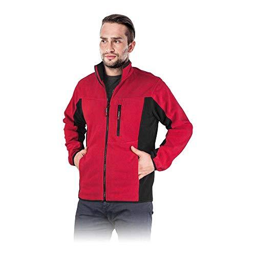 Reis Polar-Twin_Cbm ochronna polarowa bluzka, czerwono-czarna, średni rozmiar