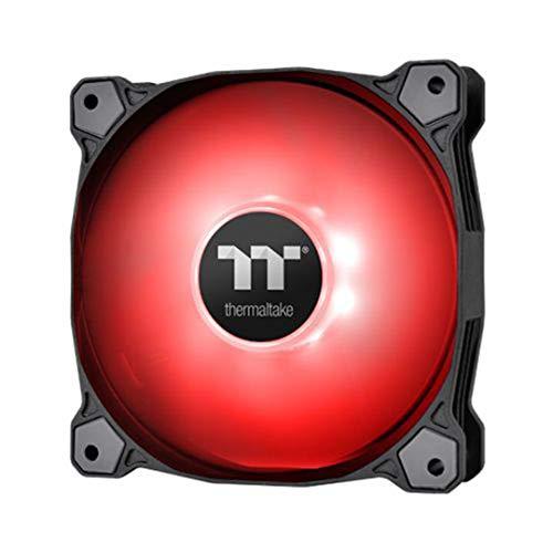 Thermaltake Ventilador de caja PWN Pure A12 de 120 mm (paquete individual), rojo CL-F109-PL12RE-B
