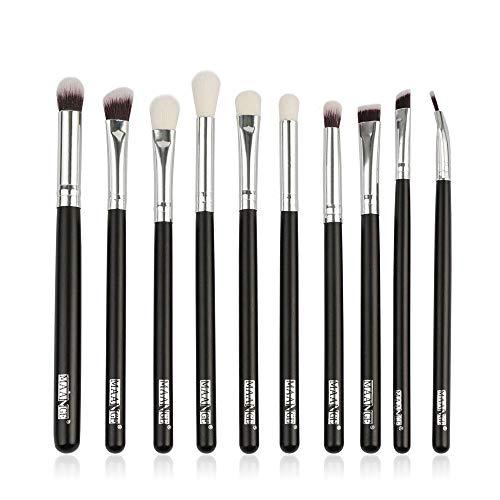VFJLR 6 / 10pcs pinceaux de maquillage set pro poudre fard à paupières eye-liner sourcils mélange mélange anti-cernes ombrage maquillage brosse cosmétique kit d'outils 10pcs