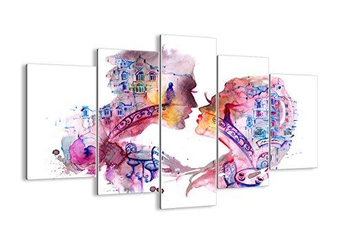 Quadro su Vetro - Cinque 5 Tele - Larghezza: 150cm, Altezza: 100cm - Numero dell'immagine 3132 - Pronto da Appendere - Elementi Multipli - Arte Digitale - Moderno - Quadro in Vetro - GEA150x100-3132