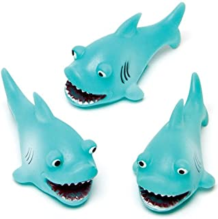 Baker Ross Ltd Shark Water Bath Squirters (Pack of 4) Ideal for Baby Bath Toys or Water Toys