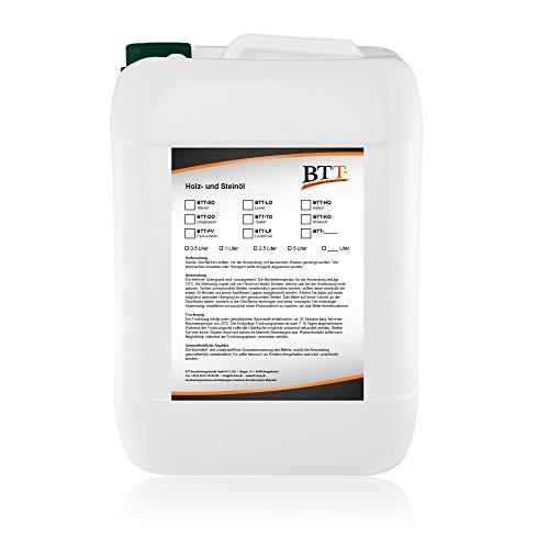 BTT-LO Natur Leinöl (1 Liter) zum Schutz, Versiegelung und Imprägnierung von Holzmöbel, Holztüren, Holzzäunen und Holzspielzeug