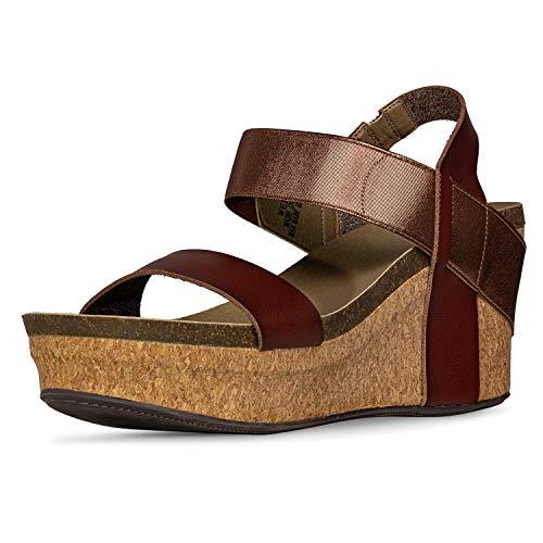Corkys Womens Wedge Sandal (10, Chocolate)