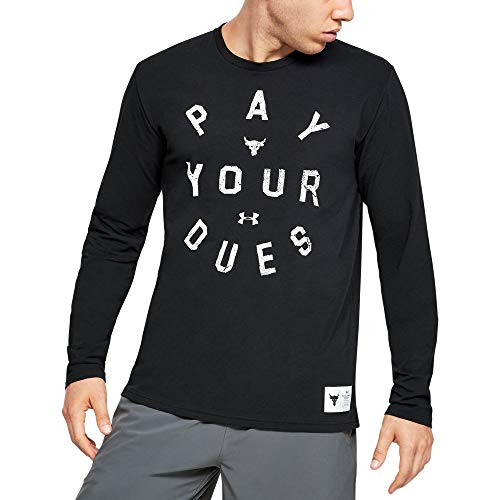 Under Armour x Project Rock Mens Pay Your Dues manica lunga nero Top Nero L