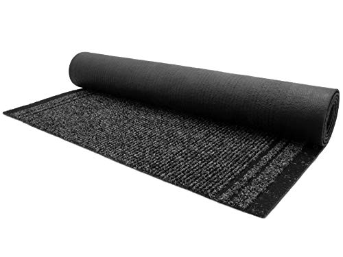 Schmutzfang-Teppich-Läufer Meterware MALAGA – Anthrazit, 0,66m x 1,50m, Rutschfester Küchenläufer, Robuste Sauberlauf-Matte
