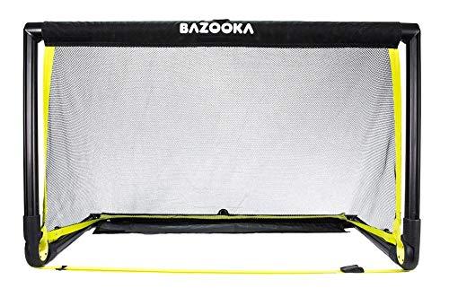 BazookaGoal Original Fußballtor Klappbar, Outdoor/Indoor-Set mit massivem Rahmen – Pop up Tor (1,20 x 0,75m, BGO1)