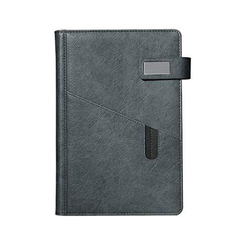 hsj Cuaderno ordenado simple grueso y exquisito cuaderno de estudio, cuaderno de oficina ordenado (color: gris, tamaño: 14,5 x 21,5 cm)