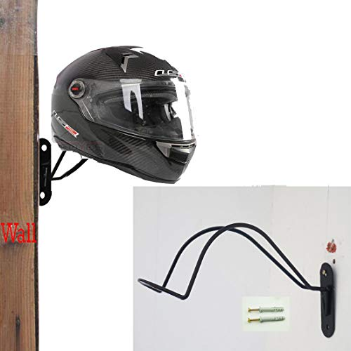 Helmet Hanger Wall Mount Display & Organize Storage Rack – Heavy Duty Wall Mounted Wall Hooks Hat Rack / Helmet Hanger / Helmet Storage Holder - Sturdy & Decorative Solution - No Helmet