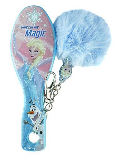 HOVUK Cepillo de pelo con pompón hecho de plástico con estampado de personajes de TV para niños congelados Olaf desata la magia multicolor utilizable para niños de 3 años más