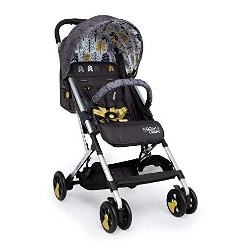 Cosatto Woosh 2 Pushchair – Lightweight Stroller From Birth to 25kg - One Hand Easy Fold, Compact (Fika Forest)