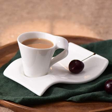 PPuujia Copa de vino de cerámica de estilo europeo taza de café, platillo, taza de leche, taza de té de la tarde, juego de tazas de café (color: 70 ml)