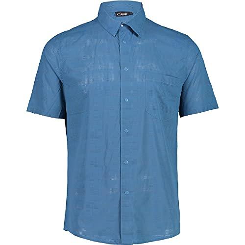CMP Slim Fit Shirt with Stretch Fabric Camisa, Hombre, Denim, 58